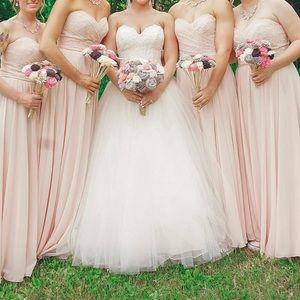 Blush dress strapless!